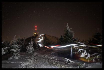 Had světel na Lysou Horu, Prodej fotoobrazů Dlouhá Trať, Fotograf Lukáš Budínský, podpora Mamma HELP
