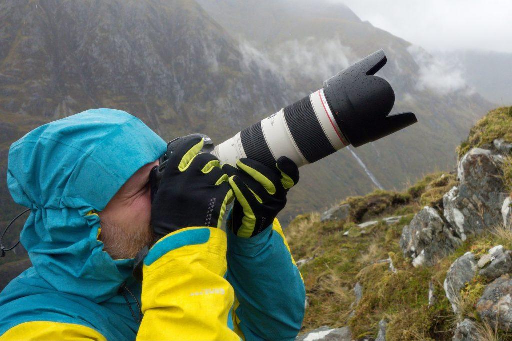 vybavení do hor ve skotsku, zima, déšť, vítr, fotograf Lukáš Budínský