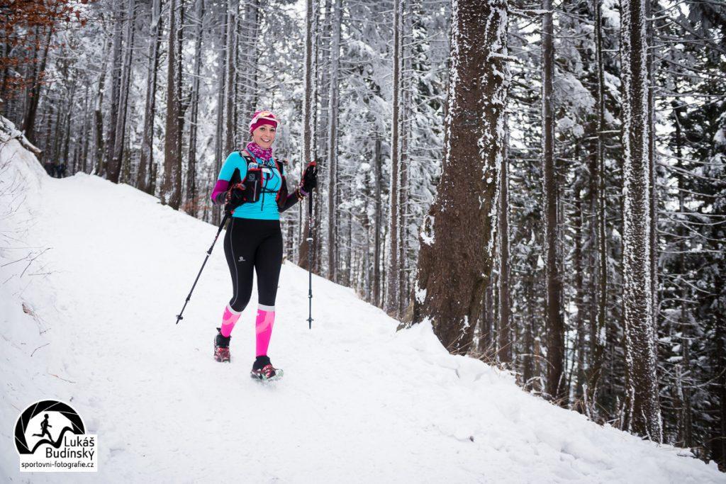 zimní Lysá hora při závodu LH24, Lukáš Budínský