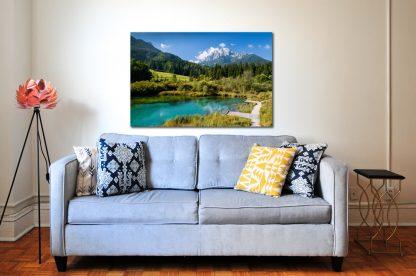 Náhled fotoobrazu Zelence v Julských Alpách