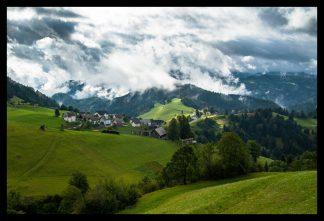 Po dešti v Alpách. Prodej fotoobrazů Dlouhá Trať, Fotograf Lukáš Budínský, podpora Mamma HELP
